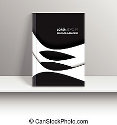 Magazine Cover with curved lines. - Magazine Cover with...