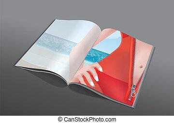 magazine, fermeture éclair