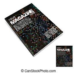 Magazine layout design template. Vector Illustration