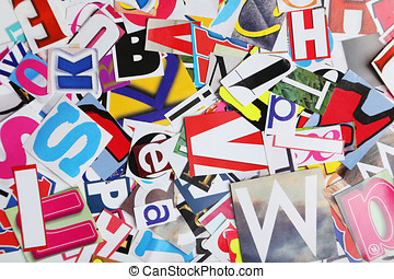 Magazine word background colorful words cut out from pictures magazine letters background publicscrutiny Choice Image