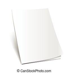 magazine mockup vector - Blank magazine mockup template....