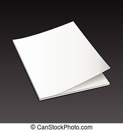 magazine mockup vector3 - Blank magazine mockup template....