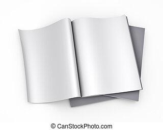 magazine, pagina, mal, leeg