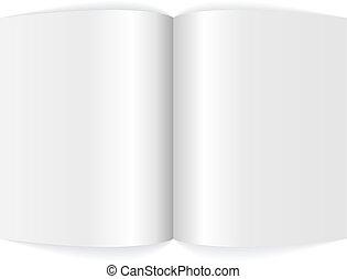 magazine., spreadsheet, em branco