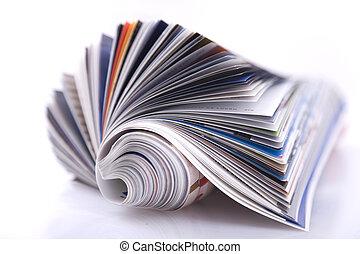 magazine - Magazine Roll isolated on white