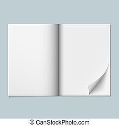 Magazine template with blank pages