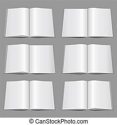 Set of blank magazine templatesm vector eps10 illustration