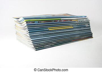 magazines, volumes
