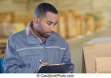 magazzino, appunti, lavoratore