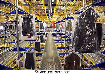 magazzino, automatico, abbigliamento