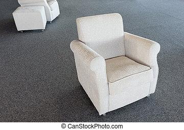 magazzino, bianco, sedia, seconda mano, mobilia