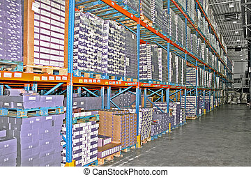 magazzino, mensole