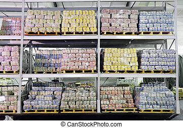 magazzino, produzione, mensole