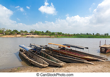 River crossing on the Magdalena river in Colombia on the way to the historic city of Mompox