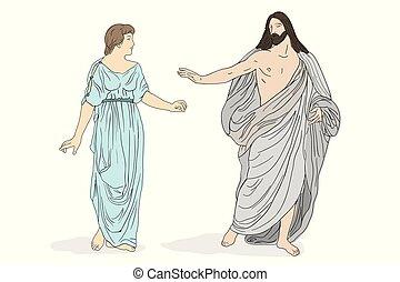 magdalene., イエス・キリスト, mary, キリスト