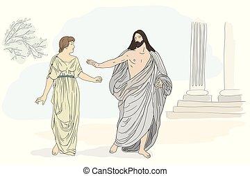 magdalene., ježíš, marie, kristus