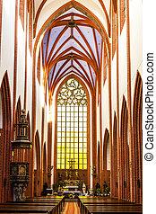 magdalene''s, polen, st, wroclaw, inre, mary, kyrka, silesia
