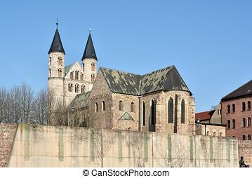 """Magdeburg - monastery """"Unser Lieben Frauen"""" in the old town..."""