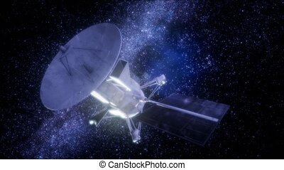 Magellan spacecraft approaching to Venus. Elements of this...
