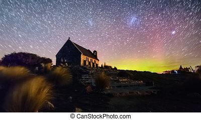 Magellani Clouds And Aurora Australis, Church Of Good...