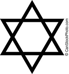 Magen David black silhouette icon - Magen David black...