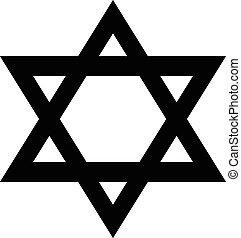 Magen David icon on white background. Vector illustration.