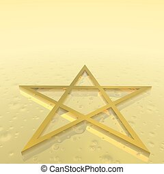 Magen David (star of David)  - 3D render