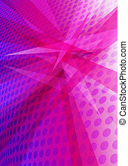 Magenta Abstract Background - Background with layered...