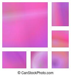 Magenta abstract background design set