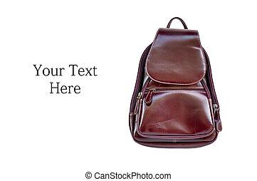 Magenta backpack leather - Backpack leather magenta color ...