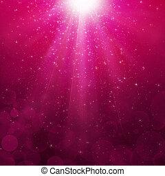 magenta, bubblar, stråle, bakgrund