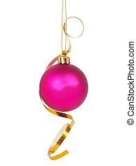 Christmas bauble with ribbon