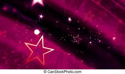 Magenta Cosmic Stars Loop