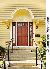Magenta Door yellow home