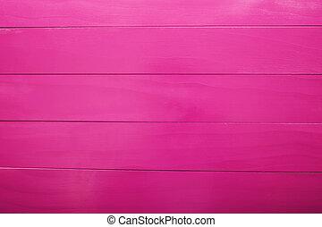 magenta, färgad, trä plankor