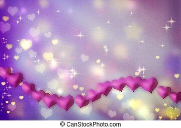 Magenta hearts background