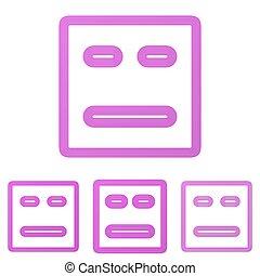 Magenta line face logo design set