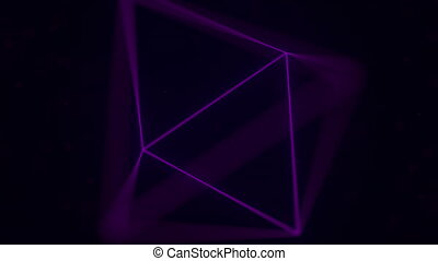 Magenta Platonic solid octahedron. Computer graphics related...