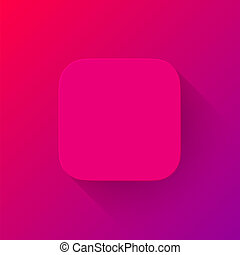 Magenta Technology App Icon Blank Template - Magenta...