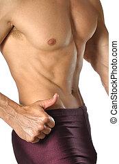 mager, muskulös