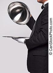 maggiordomo, servizio argento