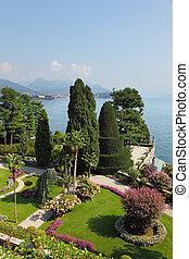 maggiore., lago, italia, norteño