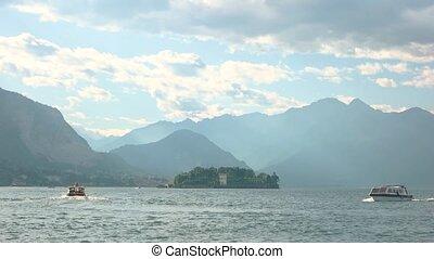 Maggiore lake in summer.