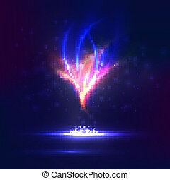 magi, dynamisk, eld, abstrakt, eps10., skapande, vektor, ...