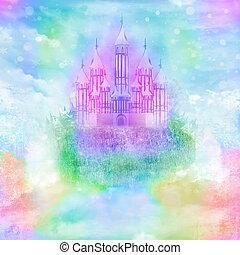 magi, saga, prinsessa, slott