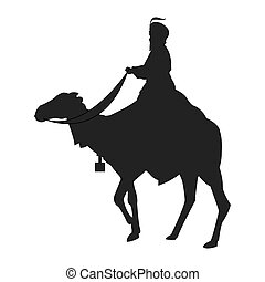 magi with camel silhouette icon