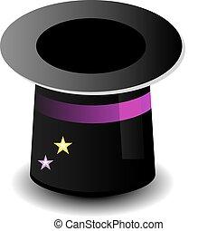 magia, cappello, icona