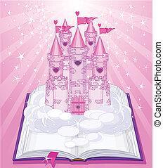 magia, castelo, bo, aparecer
