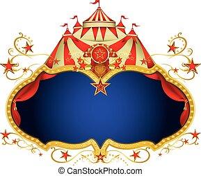 magia, circo, cartellone
