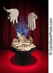 magia, dinero, -, serie